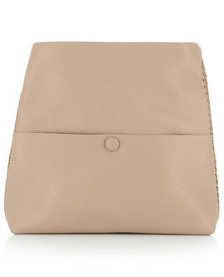Lotus Dusk grained leather messenger bag CALLISTA