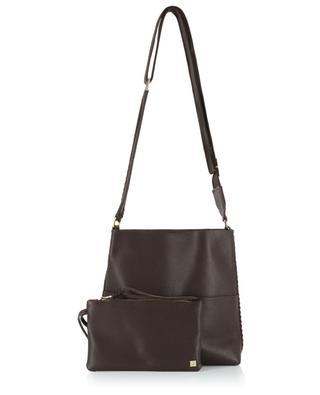 Iconic Slim Messenger grained leather shoulder bag CALLISTA