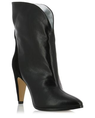 GV3 mid-calf leather and suede ankle boots GIVENCHY