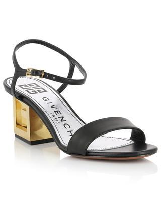 Sandales en cuir à talon Gold G Triangle Heel GIVENCHY