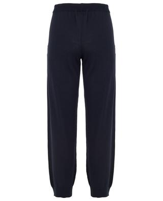 Cotton and silk blend knit track trousers ZIMMERLI