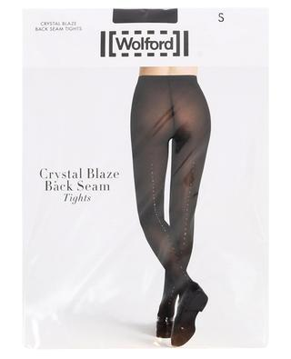 Crystal Blaze Back Seam tights WOLFORD
