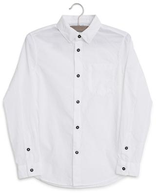 Logo embroidered crumple look shirt STONE ISLAND