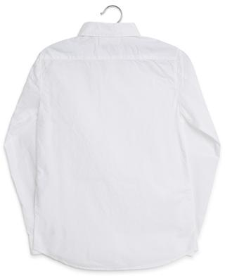 Logo embroidered crumple look shirt STONE ISLAND JUNIOR