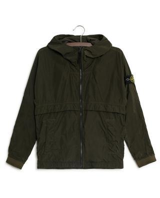 Crinkle effect nylon jacket STONE ISLAND JUNIOR