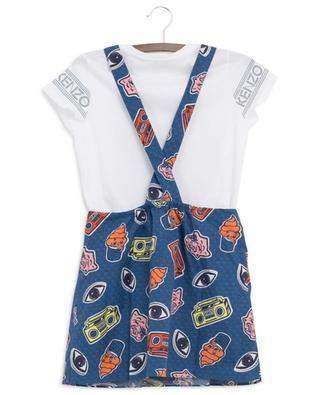 Wax dungaree dress and T-shirt set KENZO