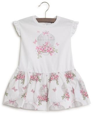 Rose print sleeveless dress MONNALISA
