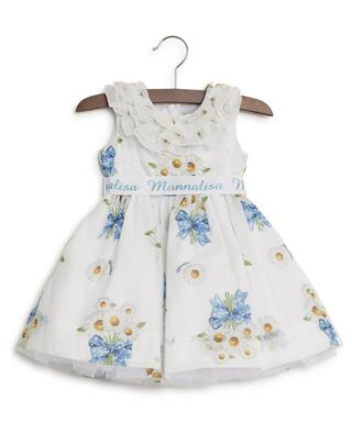 Daisy print dress with tulle MONNALISA