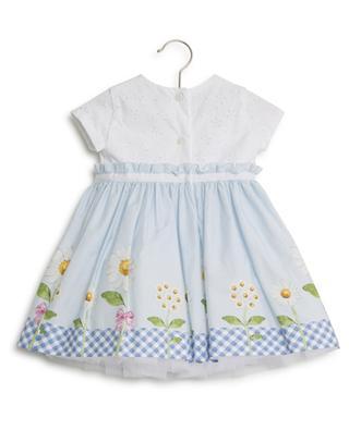 Daisy print dress with tulle MONNALISA