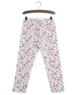 Rose and lilac print leggings MONNALISA