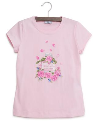 Perfume bottle print T-shirt MONNALISA