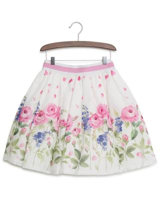 Rose and lilac print skirt MONNALISA