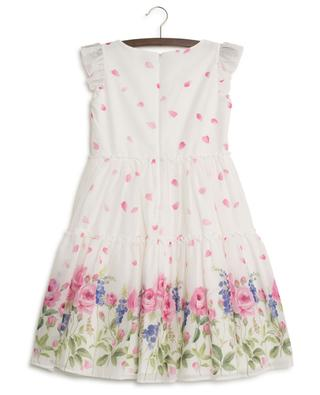 Floral print sleeveless dress MONNALISA