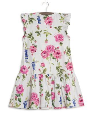 Floral print jersey dress MONNALISA