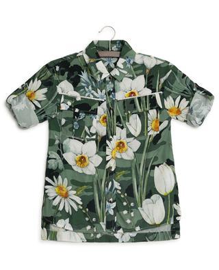 Chemise à fleurs et strass MONNALISA