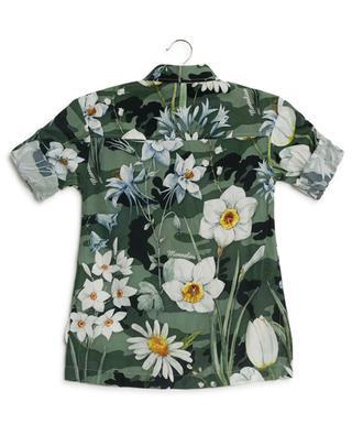 Floral print and strass shirt MONNALISA