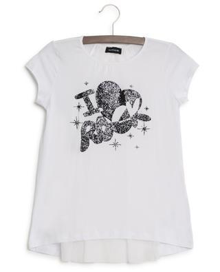 I Love Rock T-shirt with sheer back MONNALISA