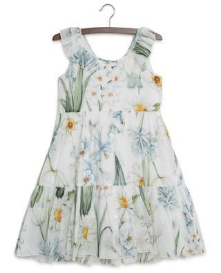 Sleeveless floral print dress MONNALISA