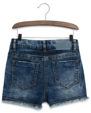 Flower embroidered jeans shorts MONNALISA