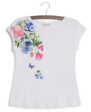 Short-sleeved T-shirt with flowers MONNALISA