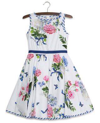 Sleeveless bouquet print dress MONNALISA