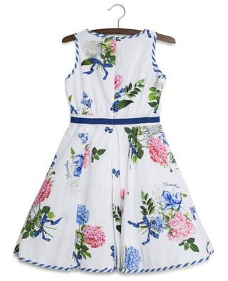 Ärmelloses Kleid mit Blumenstrauss-Print MONNALISA