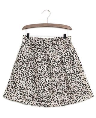 Leopard print crepe skirt IKKS JUNIOR