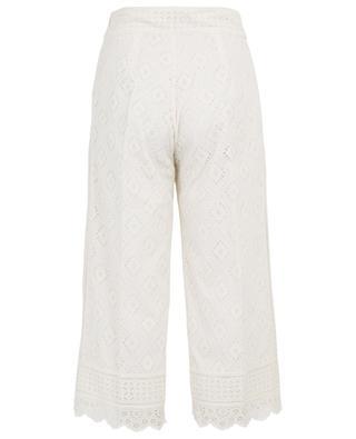 Pantalon large raccourci en broderie anglaise TWINSET