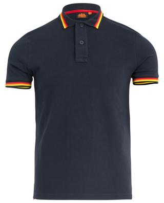 Stripe detail stretch polo shirt SUNDEK