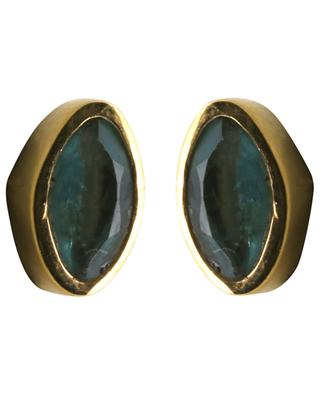 Tourmalin clad stud earrings LOUISE HENDRICKS