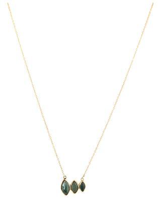 Tourmaline embellished golden necklace LOUISE HENDRICKS