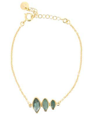 Bracelet doré orné de trois tourmalines LOUISE HENDRICKS