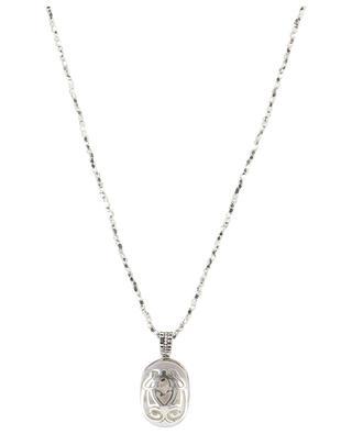 Silberne lange Halskette Lucky Scarabée Perlmutt GAS BIJOUX