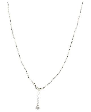Lucky Scarabée mother-of-pearl long silver necklace GAS BIJOUX