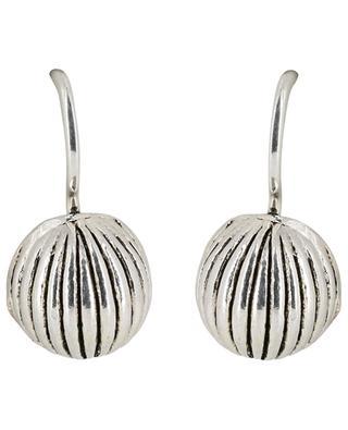 Metal fluted earrings UNE LIGNE