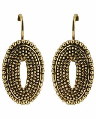 Metal oval hook earrings UNE LIGNE