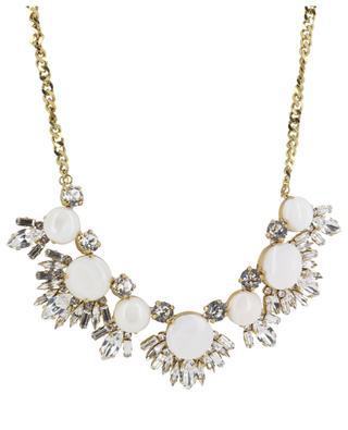 Noir & Blanc crystal clad necklace UNE LIGNE