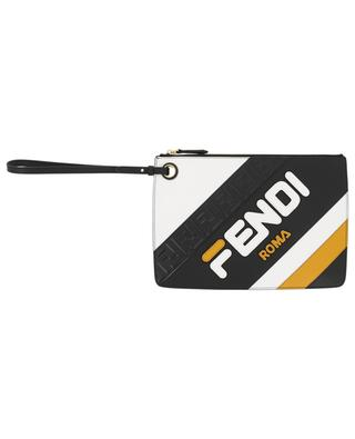 Fendi Mania multi logo leather clutch FENDI