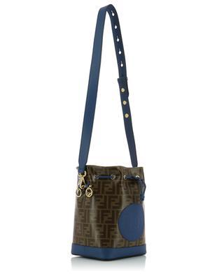 Bucket-Tasche aus glasiertem FF-Jacquard Fendi Stamp Mon Trésor FENDI