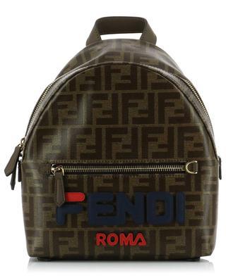Mini-sac à dos en jacquard vitrifié logo Fendi Mania FENDI