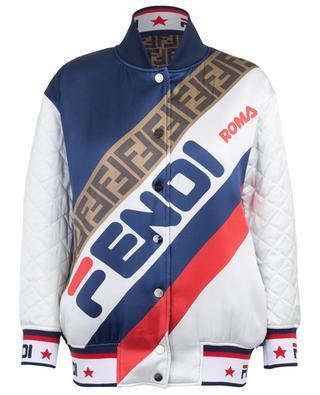 Fendi Mania FF reversible satin varsity jacket FENDI