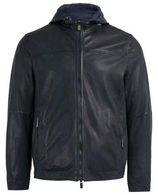 Reversible leather bomber jacket AD UNUM