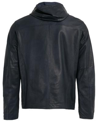 Reversible leather bomber jacket AD UNUM