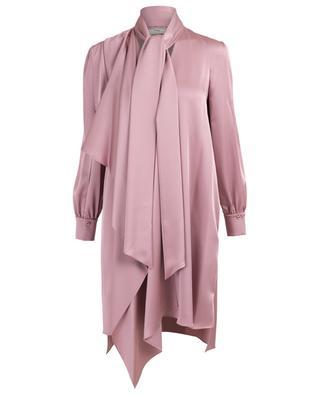 Robe asymétrique courte en satin FENDI