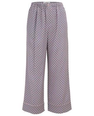 Romantic Tiles breezy wide-leg trousers FENDI