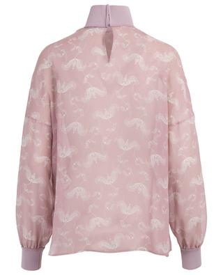 Floral print silk top FENDI