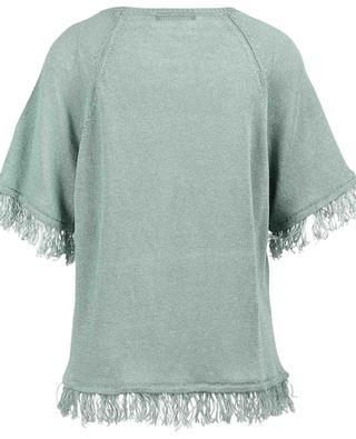 Cimone fringe adorned linen jumper WEEKEND MAXMARA