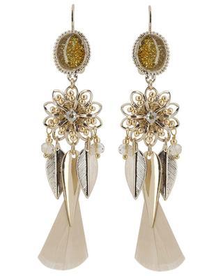 8d643ab040069c Boucles d oreilles ornées de plumes Alizia SATELLITE