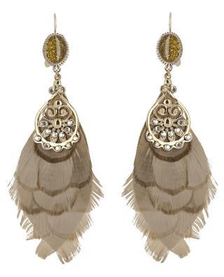 Boucles d'oreilles en alcantara et métal Alizia SATELLITE