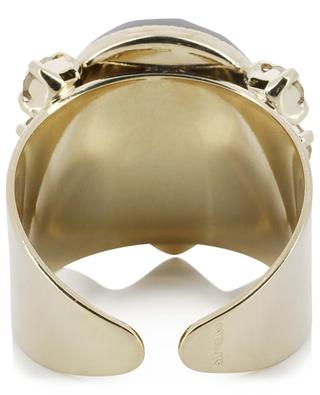 Alizia cabochon adorned ring SATELLITE
